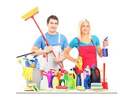 builders clean london